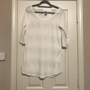 O'Neill white bathing suit cover up